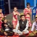 Wir feiern im Annapurna Kinderheim während des Tihar Festes das Bhai Tikka